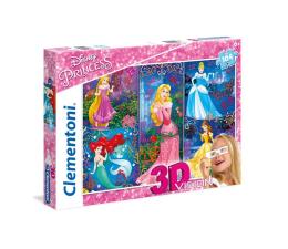 Puzzle dla dzieci Clementoni Puzzle Disney 3D Vision Princess 104 el.