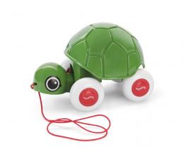 Zabawka dla małych dzieci Viking Toys Żółwik do ciągnięcia