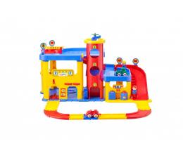 Zabawka dla małych dzieci Viking Toys Viking City garaż dwupoziomowy ze schodami