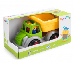 Zabawka dla małych dzieci Viking Toys Wywrotka z figurkami Jumbo Fun Colors GIFTBOX