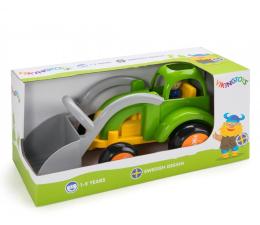 Zabawka dla małych dzieci Viking Toys Spychacz z figurką Jumbo Fun Colors GIFTBOX
