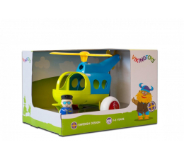 Zabawka dla małych dzieci Viking Toys Helikopter z figurką Jumbo Fun Colors GIFTBOX