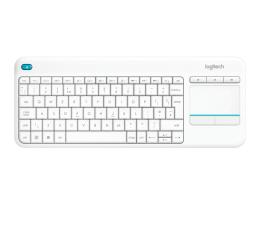 Klawiatura bezprzewodowa Logitech Wireless Touch K400 Plus biała