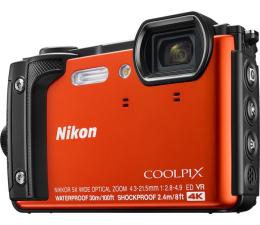 Aparat kompaktowy Nikon Coolpix W300 pomarańczowy Holiday Kit