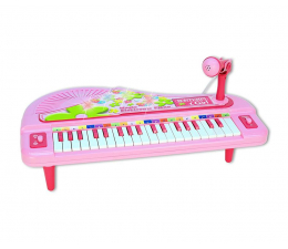 Zabawka muzyczna Bontempi GIRL pianino elektroniczne 37 klawiszy+mikrofon