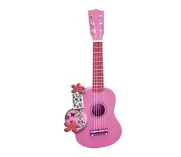 Zabawka muzyczna Bontempi PLAY Gitara drewniana 55 CM różowa z naklejkami