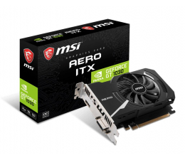 Karta graficzna NVIDIA MSI GeForce GT 1030 AERO ITX 2GD4 OC 2GB DDR4