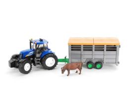 Pojazd / tor i garaż Bruder Traktor New Holland T8040 z przyczepą i krową