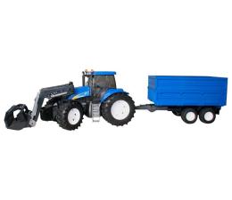Pojazd / tor i garaż Bruder Traktor New Holland TG 285 z ładowarką i przyczepą