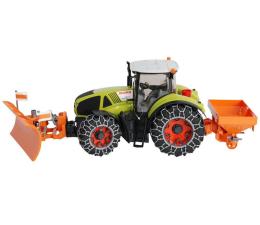 Pojazd / tor i garaż Bruder Traktor Claas Axion 950 z łańcuchami, solarką