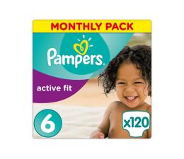 Pieluchy jednorazowe Pampers Active Fit 6 ExLarge Na Miesiąc 120szt