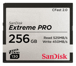 Karta pamięci CFast SanDisk 256GB Extreme PRO CFAST 2.0 525MB/s VPG130