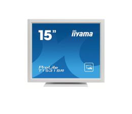 """Monitor LED 21"""" i mniejszy iiyama T1531SR-W5 dotykowy biały"""