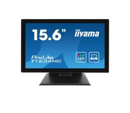 """Monitor LED 21"""" i mniejszy iiyama T1634MC dotykowy czarny"""