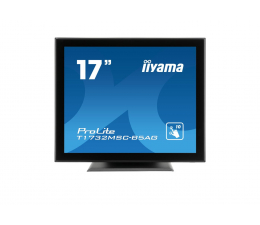"""Monitor LED 21"""" i mniejszy iiyama T1732MSC-B5AG dotykowy czarny"""