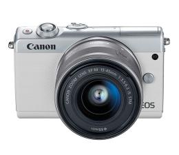 Bezlusterkowiec Canon EOS M100 EF-M 15-45mm IS STM biały + Irista 50GB