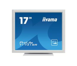 """Monitor LED 21"""" i mniejszy iiyama T1731SR-W5 dotykowy biały"""