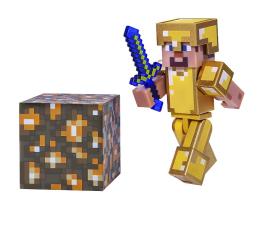 Figurka TM Toys Minecraft Steve w złotej zbroi