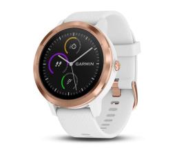Zegarek sportowy Garmin Vivoactive 3 Różowe Złoto z Białym Paskiem
