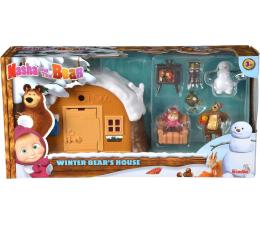 Figurka Simba Masza i Niedźwiedź Zimowy Domek Niedźwiedzia