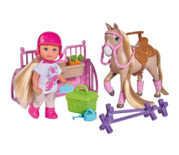 Lalka i akcesoria Simba Evi na kursie jazdy konnej