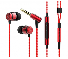 Słuchawki przewodowe SoundMagic E50C Red-Black