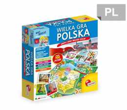 Zabawka edukacyjna Lisciani Giochi Mały geniusz Wielka Gra Polska