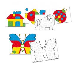 Majsterkowanie Quercetti Szablony Mozaika Fantacolor Junior Zestaw