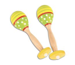 Zabawka muzyczna Bontempi Play Drewniane 2 Kolorowe Grzechotki