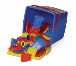 Zabawka dla małych dzieci Viking Toys Viking City Pojazdy I Tory W Wiaderku