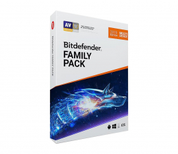 Program antywirusowy Bitdefender Family Pack 2019 (12m.) Unlimited + Pendrive 32GB