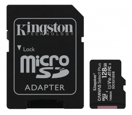 Karta pamięci microSD Kingston 128GB microSDHC Canvas Select Plus 100MB/s