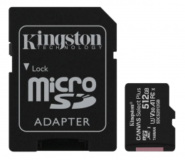 Karta pamięci microSD Kingston 512GB microSDHC Canvas Select Plus 100MB/85MB/s