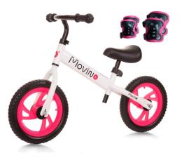 Rowerek Movino Sport + Ochraniacze Różowe