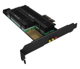 Kontroler ICY BOX Karta rozszerzeń PCIe do SSD 2x M.2 Radiator
