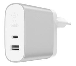 Ładowarka do smartfonów Belkin Ładowarka sieciowa USB-C, USB (srebrna)