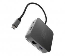 Stacja dokująca do laptopa Green Cell Adapter USB-C - USB-C, 3xUSB, HDMI, RJ-45