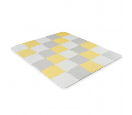 Mata edukacyjna Kinderkraft Luno Mata piankowa puzzle Yellow