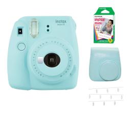 Aparat natychmiastowy Fujifilm Instax Mini 9 niebieski Wkład+ Etui+ Klamerki