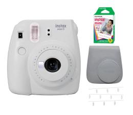 Aparat natychmiastowy Fujifilm Instax Mini 9 biały Wkład+ Etui+ Klamerki