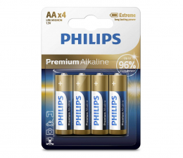 Bateria alkaliczna Philips Premium Alkaline AA (4szt)