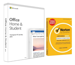 Program biurowy Microsoft Office 2019 Home & Student + Norton