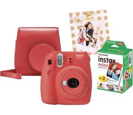 Aparat natychmiastowy Fujifilm Instax Mini 9 czerwony wkład 2x10+Etui+Ramka