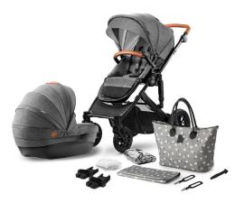 Wózek dziecięcy wielofunkcyjny Kinderkraft Prime 2w1 Grey z torbą Mommy Bag