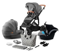 Wózek dziecięcy wielofunkcyjny Kinderkraft Prime 3w1 Grey z torbą Mommy Bag