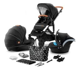 Wózek dziecięcy wielofunkcyjny Kinderkraft Prime 3w1 Black z torbą Mommy Bag