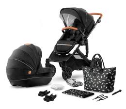 Wózek dziecięcy wielofunkcyjny Kinderkraft Prime 2w1 Black z torbą Mommy Bag