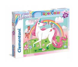 Puzzle dla dzieci Clementoni Puzzle 104 el. Jednorożec brillant