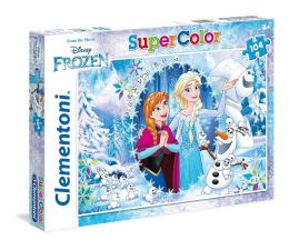 Puzzle dla dzieci Clementoni Puzzle Disney 104 el. Super Kolor Frozen Together forever