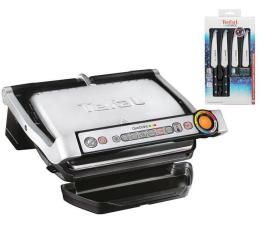 Grill elektryczny Tefal OptiGrill GC712D + zestaw noży Ice Force